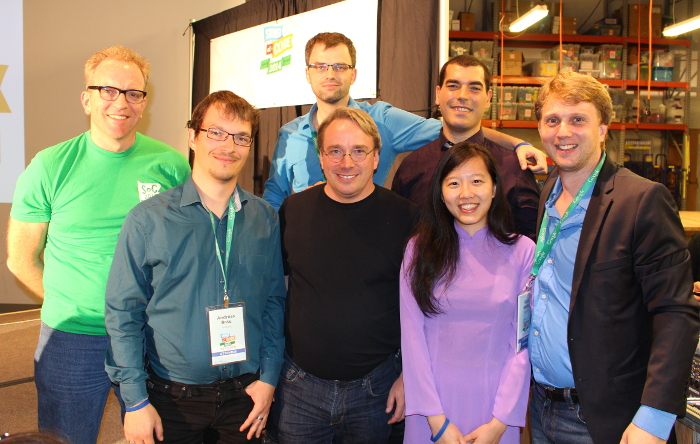 Linus Torvalds, Mario Behling, Federico Capoano, Freifunk, Google Summer of Code