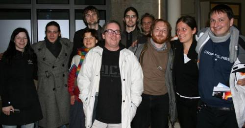 Members of the Free Software and Freifunk Community in Berlin, February 2008